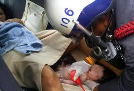 A baby delivered in a Thai taxi ....